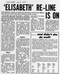 July 1976 - Elisabeth to get a Sixth Campaign