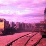 New loco pulling ingot train