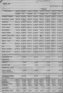 Cost Sheet for Blast Furnace