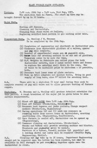 Procedure for shutting down Elisabeth in May 1973