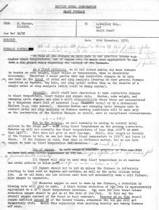 Memorandum on Operating Procedure