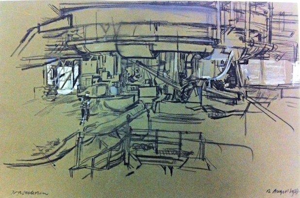 Blast Furnace Cast House - Sketch