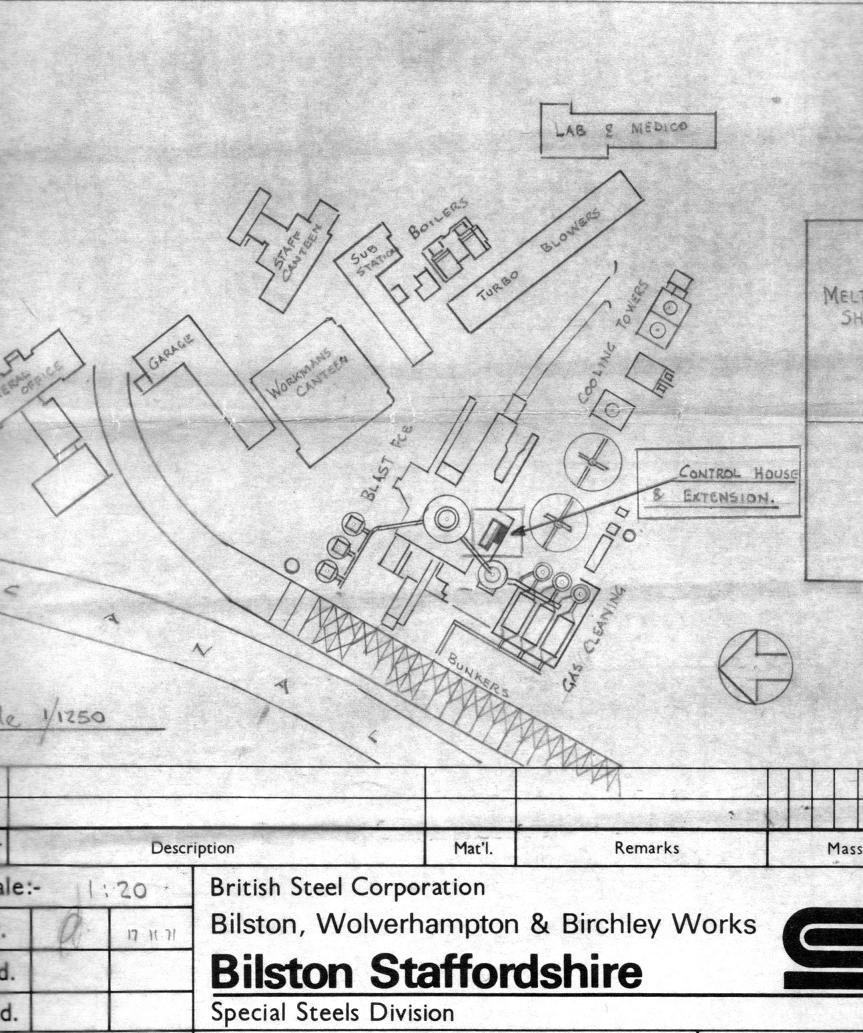plan of blast furnace area bilston iron steelworks a retrospective